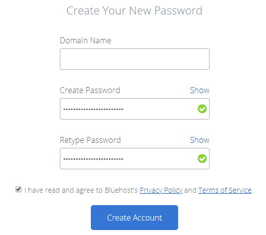 create-bluehost-account